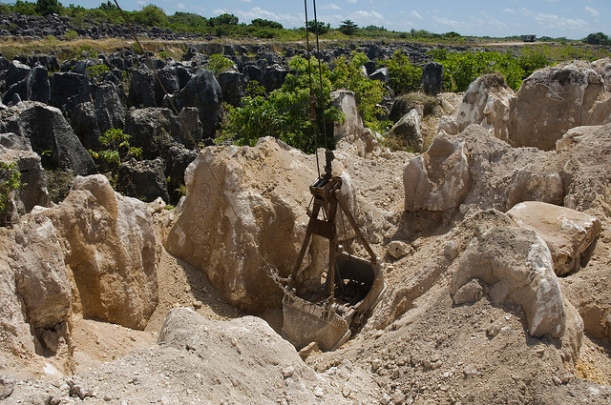 A phosphate rock mine in Nauru Image by DFAT Australian Aid, via Flickr CC.