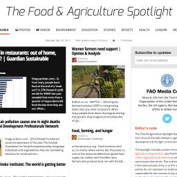 On The Radar: The FAO's Food & Agriculture Spotlight