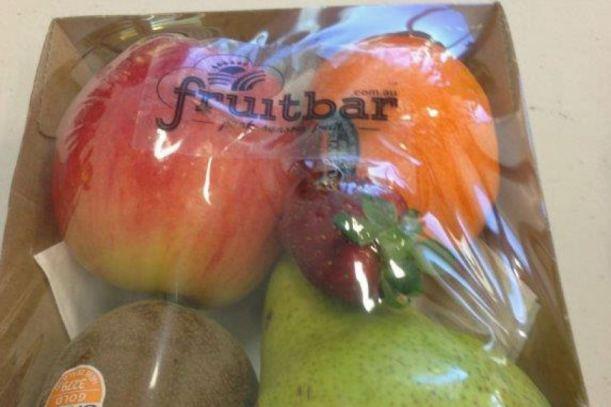 Una de los paquetes de frutas que se puede comprar en la FruitBar. Via ABC.